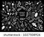 big vector set of floral... | Shutterstock .eps vector #1027508926