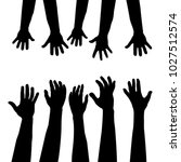helping hand  concept. adults... | Shutterstock .eps vector #1027512574