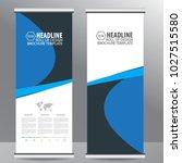roll up business brochure flyer ... | Shutterstock .eps vector #1027515580