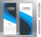 roll up business brochure flyer ... | Shutterstock .eps vector #1027515586