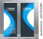 roll up business brochure flyer ... | Shutterstock .eps vector #1027515589