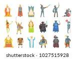fairy tale kings set of cartoon ... | Shutterstock .eps vector #1027515928
