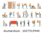 different delivery service... | Shutterstock .eps vector #1027515940
