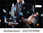 smart industry and automation... | Shutterstock . vector #1027519960