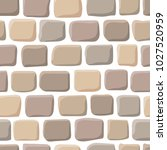 seamless pattern with stones.... | Shutterstock .eps vector #1027520959