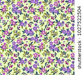 seamless floral pattern for... | Shutterstock .eps vector #1027522504