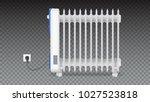 oil radiator isolated on...   Shutterstock .eps vector #1027523818