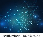 abstract background of network... | Shutterstock .eps vector #1027524070