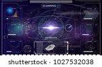 hud.radar screen. vector...   Shutterstock .eps vector #1027532038