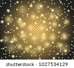 light abstract glowing bokeh... | Shutterstock .eps vector #1027534129