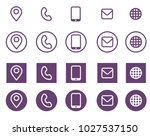 vector violet business card... | Shutterstock .eps vector #1027537150