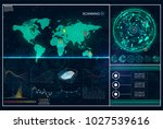 hud. radar screen. futuristic... | Shutterstock .eps vector #1027539616