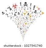 danger trash burst fountain.... | Shutterstock .eps vector #1027541740