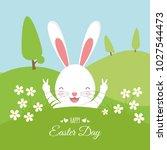 easter bunny . happy easter | Shutterstock .eps vector #1027544473