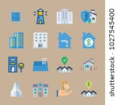 icons real estate with design ... | Shutterstock .eps vector #1027545400