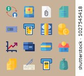 icons banking with chart  atm ... | Shutterstock .eps vector #1027545418