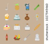 icons gastronomy with beer ... | Shutterstock .eps vector #1027545460
