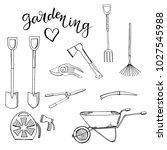 black and white monochrome set... | Shutterstock .eps vector #1027545988