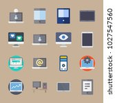 icons computer with laptop ... | Shutterstock .eps vector #1027547560