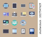 icons computer with tablet ... | Shutterstock .eps vector #1027547629
