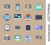 icons computer with device ... | Shutterstock .eps vector #1027549666