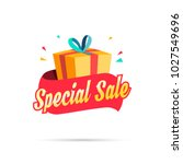 special sale shopping gift box | Shutterstock .eps vector #1027549696