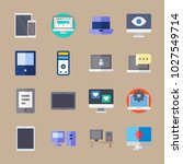 icons computer with medicine ... | Shutterstock .eps vector #1027549714