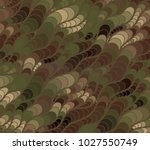 abstract vector wave camo... | Shutterstock .eps vector #1027550749