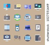 icons computer with tablet ... | Shutterstock .eps vector #1027551649