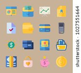 icons banking with box of... | Shutterstock .eps vector #1027551664