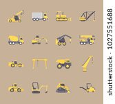 icons construction machinery... | Shutterstock .eps vector #1027551688