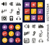 audio all in one icons black  ... | Shutterstock .eps vector #1027552264