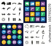 australia all in one icons... | Shutterstock .eps vector #1027552270