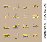 icons construction machinery... | Shutterstock .eps vector #1027553923