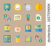icons banking with chart  coin  ... | Shutterstock .eps vector #1027554004