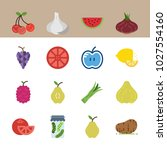 icons fruits and vegetables... | Shutterstock .eps vector #1027554160