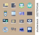 icons computer with device  web ... | Shutterstock .eps vector #1027554166