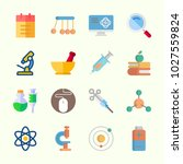 icons about science with... | Shutterstock .eps vector #1027559824
