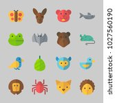 icons about animals with mouse  ... | Shutterstock .eps vector #1027560190