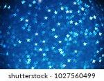 Beautiful blue star bokeh...