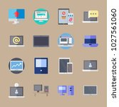 icons computer with tablet ... | Shutterstock .eps vector #1027561060