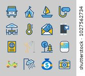 icons about travel with snorkel ... | Shutterstock .eps vector #1027562734
