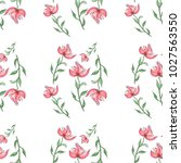 pattern in pink flowers and... | Shutterstock . vector #1027563550