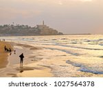 jaffa from the beach | Shutterstock . vector #1027564378