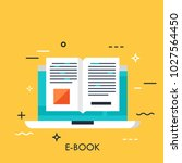 electronic book icon  digital... | Shutterstock .eps vector #1027564450