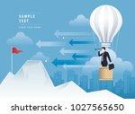 businessman looking through... | Shutterstock .eps vector #1027565650