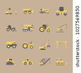 icons construction machinery... | Shutterstock .eps vector #1027569850