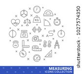 collection of measuring thin... | Shutterstock .eps vector #1027574350