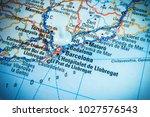 map of barselona  road | Shutterstock . vector #1027576543