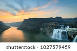 Sunset of Shoshone Falls and Snake River Canyon